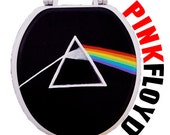 Pink Floyd Dark Side of the Moon Hand Painted Toilet Seat Rock by Debbie Is Adopted