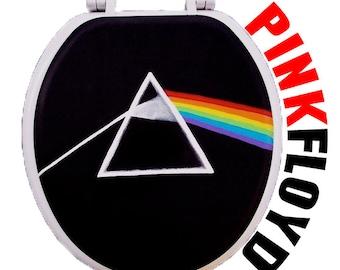 Pink Floyd Dark Side of the Moon Hand Painted Toilet Seat Rock by Debbie Is Adopted