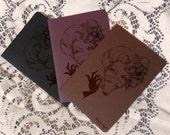 PRE-ORDER set of three screenprinted sketchbooks