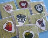 One Random Beatles / Hippie Guitar Pick Necklace