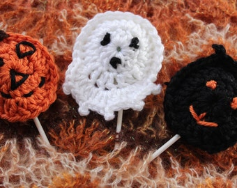 Halloween Sucker Covers and Finger Puppets Crochet Pattern
