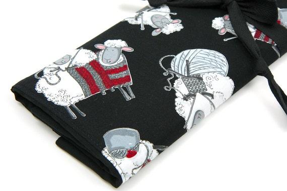 Large Knitting Needle Case - Black Sheep