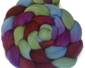 Handpainted Polwarth Wool Roving - 4 oz. POTTERY - Spinning Fiber