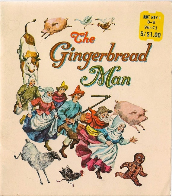 VINTAGE KIDS BOOK The Gingerbread Man by HazelCatkins on Etsy