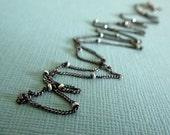 Satellite Chain - Oxidized 1mm Sterling Silver Beaded Curb Chain In Your  Choice of length