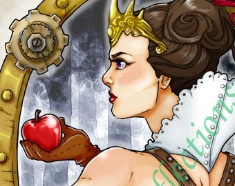 Mirror on the Wall Wicked Queen Art Print