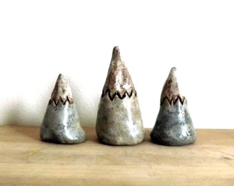One Mini Mountain, Stoneware Miniature Mountain Sculpture, Earth Totem