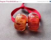 On sale - 45 % off Elizabeth Creations MAGMA artisan lampwork matching boro beads SRA