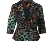 Womens Jacket,  Batik Blazer, Nigerian Cropped Jacket, Ethnic fashion, African jacket, Womens blazer, African Style, Funky jacket