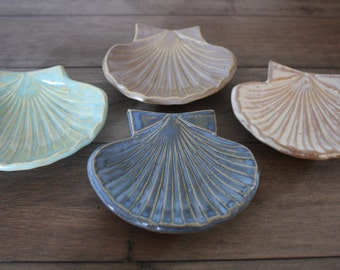 Bridesmaid Gifts Wedding Favors Corporate Gifts Bridal Shower Favors Beach Wedding Favors Seashell Bowl  Jewelry Holder - Set of 7