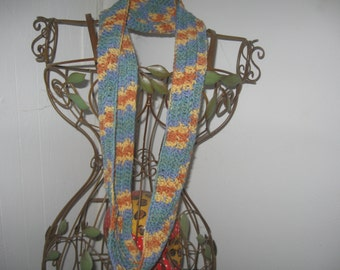 Summer Day Crocheted  Infinity ScarfCLEARANCE