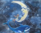 Constellation Fishman 16.5x10 Mounted ready to hang