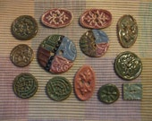 12 large  ceramic buttons Etsy Exclusive Sampler Sale