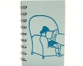 Reading Diary, teacher gift, Gift Idea for Book Lover, Present for Reader, comfy chair: Keep track of your reading list, Bookworm, book worm