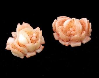 12mm Pale Peach Rose (2 Pieces) #1649