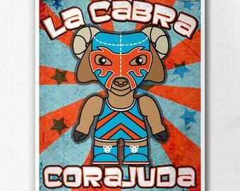 Luchamals La Cabra Corajuda Wall Art Print