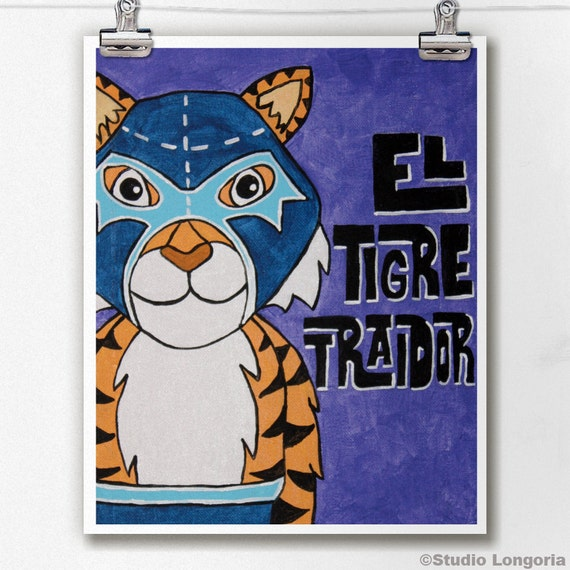 Luchamal El Tigre Traidor Wall Art Print