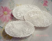Vintage Oval  Appliques (package of 2)