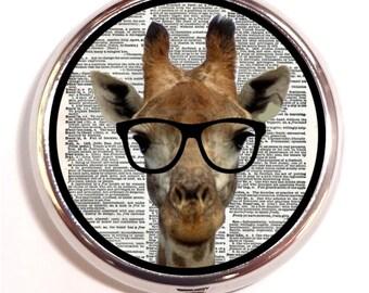 Giraffe Nerd Kitschy Hipster Pill box Pill Case Holder Pillbox