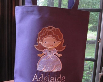 TOTE BAG Disney Princess Sofia the First Personalized Toddler or Big Kid Tote