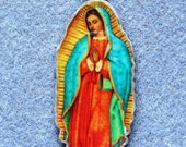 Our Lady of Guadalupe  Handmade Catholic Resin Necklace Patron of Unborn OLG11