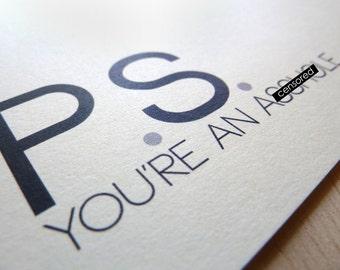 Snarky Card. Blank Card. Funny Card. Mature Greeting Card. Birthday Card.