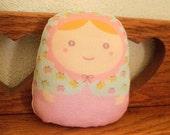 carminita pastel butterfly --- matryoshka doll-- normal size (ship in 1 day)