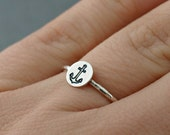 Anchor Ring , Sterling Silver Anchor Ring, Anchor Jewelry