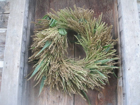 Corn Tassel Wreath All Natural Decoration For Door Or Wall