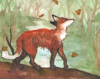 Archival Fine Art Animal Print - The Six of Foxes