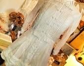 Women's lagenlook mori girl  gypsy prairie country western tunic/dress/shirt size Small medium 6 8 10