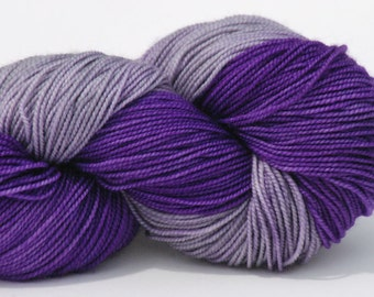 Hand dyed 2ply Merino Sock Yarn - Royal Frost