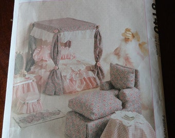 McCalls Crafts 8140 Doll Furniture Sewing Pattern for 11 1/2 to 12 1/2 inch Fashion Dolls