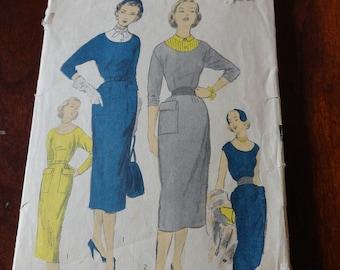Vintage 50s Advance 6013 Dress Sewing Pattern size 14