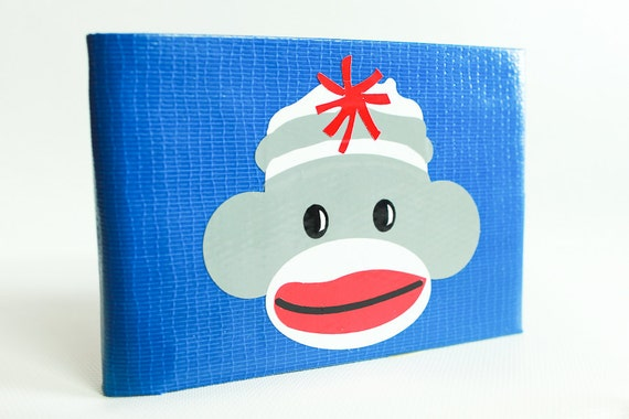 Sock Monkey Duct Tape Wallet - by jDUCT
