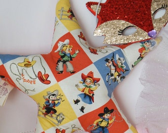 Star Pillow -Cowboy and Cowgirls