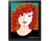 Red Haired Woman Art Prin...