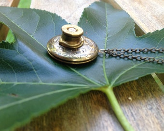 Bullet Casing Necklace - Locket