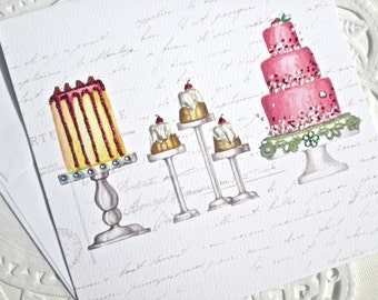 Jeweled Card-PRETTY CAKES