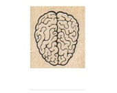 rubber stamp Zombie Brains  rubber stamp    stamp number 5284 anatomy science