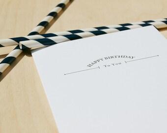 Happy Birthday arrows, letterpress card, manly Birthday, typography