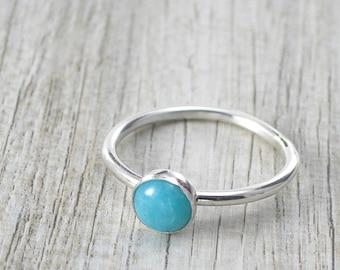 Handmade Natural Amazonite Ring