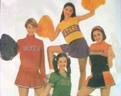 Simplicity 9806 Misses and Petite Design Your Own Cheerleader Outfit or Costume Team Spirit Sizes 14 16 18