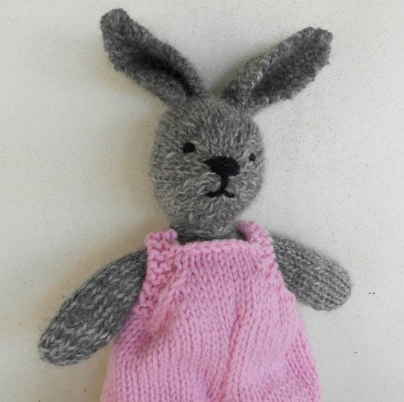 SALE: Natural Stuffed Animal Toy, Bunny Rabbit, Maya,  handKnit by Woolies