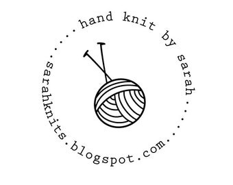 circle knit rubber stamp - self-inking