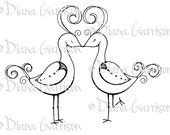 Love Birds Digi Digital Stamp