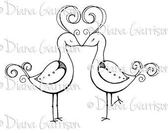 Love Birds Digi Digital Stamp