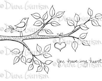 You Have My Heart Digi Digital Stamp
