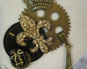 Steampunk in Paris Charm Necklace