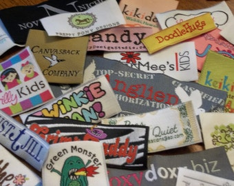 Made in Usa 100 Woven Labels - YOUR OWN ARTWORK - Up to 8 Colors